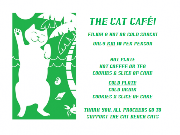 cat cafe menu
